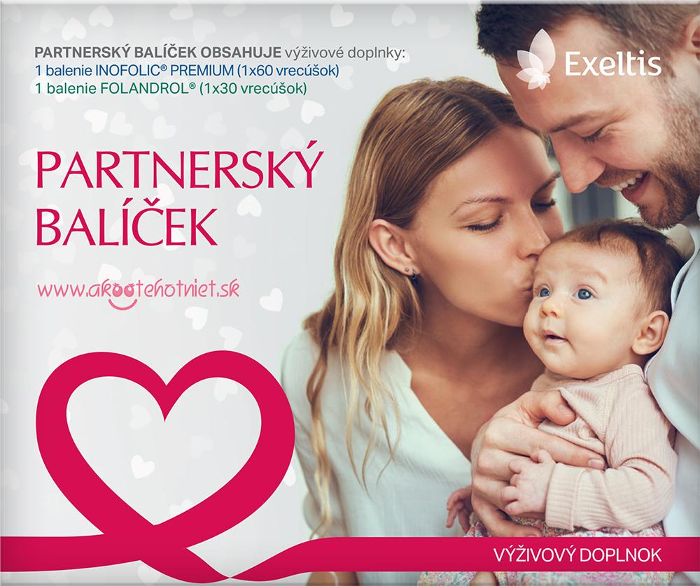 Partnerský balíček na zlepšenie šancí na otehotnenie - Obsahuje Inofolic pre ženu a Folandrol pre muža